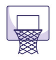 basketball basket isolated icon vector image vector image