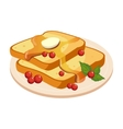 Bread Toasts With Melting Butter And Honey Plate vector image vector image