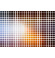 brown orange white abstract rounded mosaic vector image