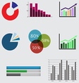 business diagrams and graphics vector image