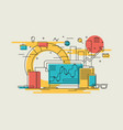 business workflow linear vector image vector image