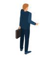 businessman icon isometric style vector image