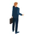 businessman icon isometric style vector image