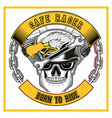cafe racer eagle and skull bikershand drawing vector image vector image