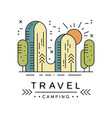 camping travel logo design adventure camping vector image