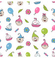 childrens seamless background pattern vector image
