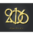 Creative happy new year 2016 greeting card design vector image vector image