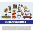 cuba travel poster with information on cuban vector image vector image