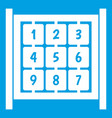 cubes with numbers on playground icon white vector image vector image