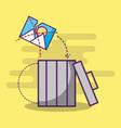 digital trash can garbage broken photo vector image
