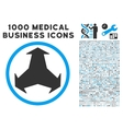 Directions Icon with 1000 Medical Business vector image vector image