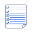 document icon check list isolated vector image