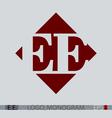 e monogram logo vector image