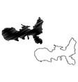 elba map vector image