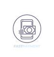 fast money transfer line icon vector image