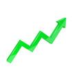 financial indication arrow up green 3d graph vector image