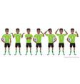 footballer character constructor black african vector image vector image
