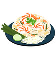 fried noodles popular thai food vector image
