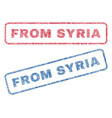 from syria textile stamps vector image vector image