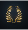 golden laurel wreath vector image