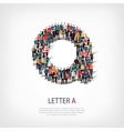 group people shape letter A vector image