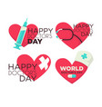 happy doctors day medical worker professional vector image