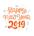 happy new year 2019 poster vector image vector image