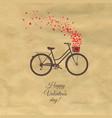 happy valentines day postcard vector image