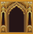 india arch gold and background black vector image vector image