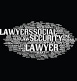lawyers at work text background word cloud concept vector image vector image