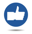 like button thumbs up vector image