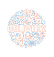 logistic concept global delivery cargo service vector image vector image
