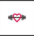 love fitness healthy sport symbol logo vector image vector image