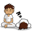 meditation cartoon vector image vector image