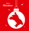 merry christmas theme with map of oakland vector image vector image