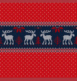 merry year seamless pattern border vector image vector image