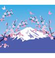 mountain cherry vector image vector image
