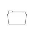Outline document folder icon vector image vector image