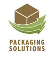 packaging logo vector image vector image