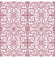pattern with stylised flowers vector image vector image
