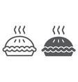pie line and glyph icon pastry and food vector image vector image