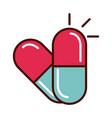 prescription medical capsule prevent spread of vector image vector image
