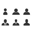 profile icon set user sign in avatar vector image