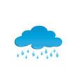 rainy clouds for logo design drops rain symbol vector image vector image