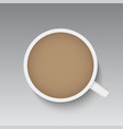 realistic top view coffee cup vector image