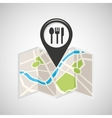 restaurant map pin pointer design vector image vector image