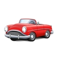 retro car red convertible vector image