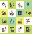 set eco icons in flat style vector image