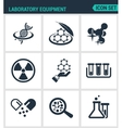 Set modern icons Laboratory equipment vector image vector image
