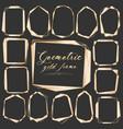 set of geometric gold frame decorative element vector image vector image